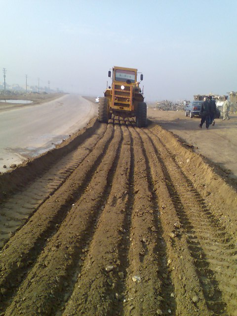 Earth fill construction and intra field roads for Clusters Wells