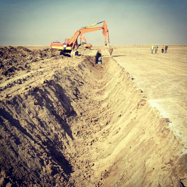 Site preparation earth work, civil work and force protection work